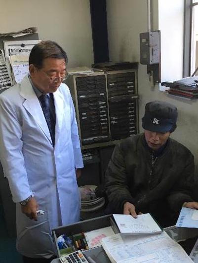 石原検査員より分解整備記録簿の説明